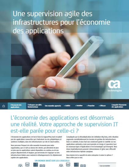 Une supervision agile des infrastructures pour l'économie des applications