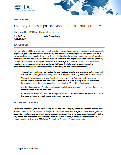 Les 4 principales tendances impactant la stratégie de l'infrastructure mobile