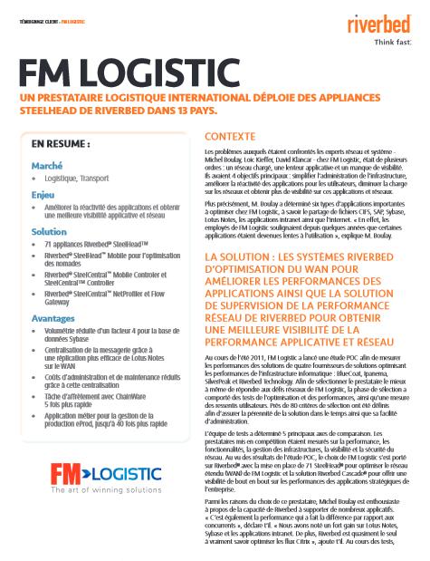 Etude de cas : FM Logistics déploie des appliances Steelhead de Riverbed dans 13 pays