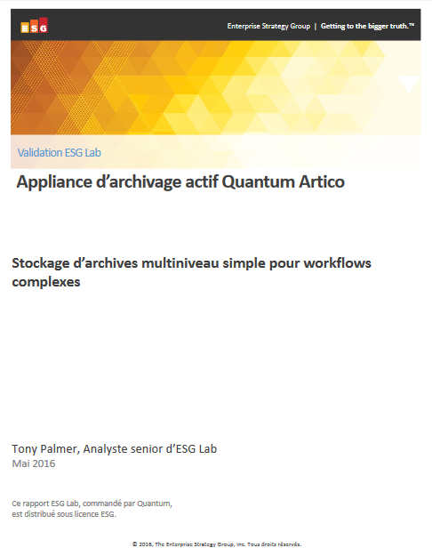 Le stockage d'archives multiniveau simple pour les workflows complexes
