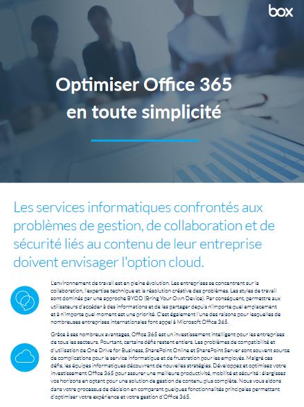 Optimiser Office 365 en toute simplicité