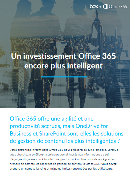 Un investissement Office 365 encore plus intelligent