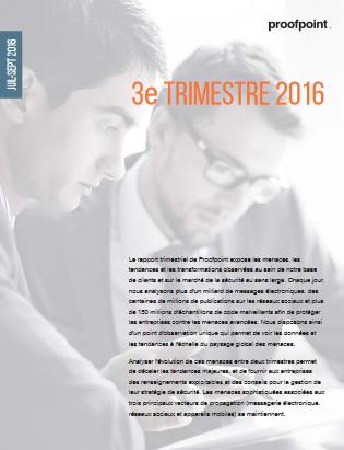 Rapport récapitulatif des menaces 2016