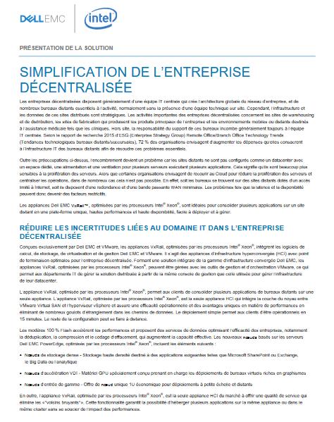 Simplification de l'entreprise décentralisée