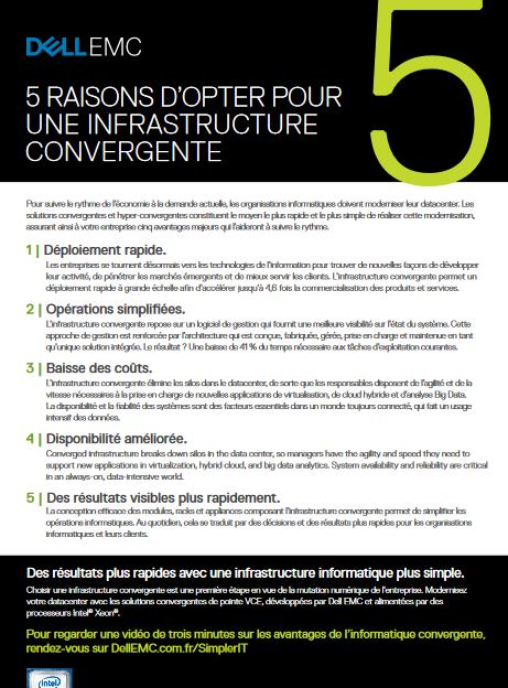 5 raisons d'opter pour une infrastructure convergente
