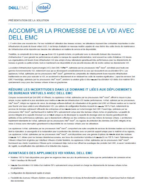 Accomplir la promesse de la VDI