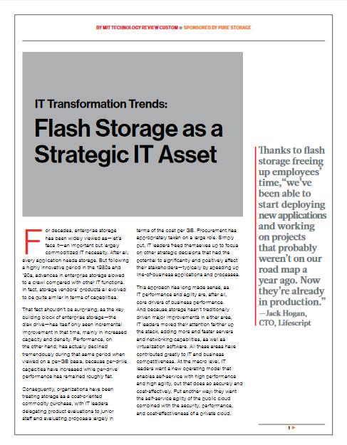 Améliorer la gestion de données à travers le stockage flash