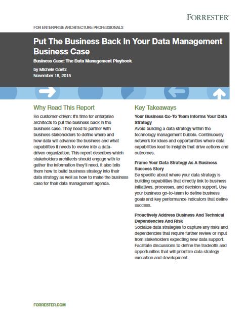 Etude de cas : remettez la gestion de données au coeur de votre activité