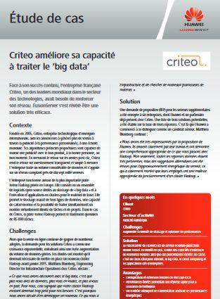 """Criteo améliore sa capacité à traiter le """"big data"""""""