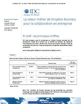La valeur métier de Dropbox Business pour la collaboration en entreprise