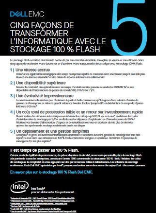 Cinq façons de transformer l'informatique avec le stockage 100% flash