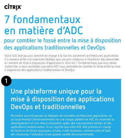 7 fondamentaux en matière d'ADC