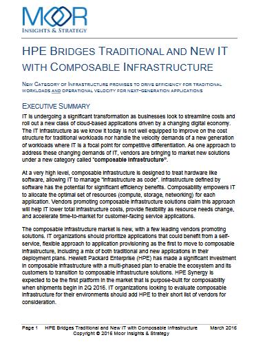 HPE invente l'infrastructure composable : la technologie qui fait le lien entre l'informatique de l'ancienne et de la nouvelle génération