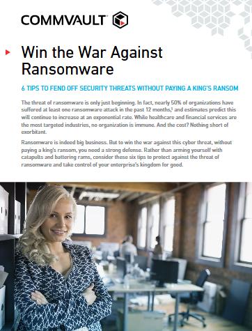 Gagner la guerre contre les ransomwares