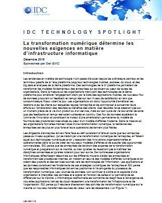 La transformation numérique détermine les  nouvelles exigences en matière  d'infrastructure informatique