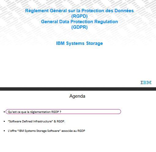 IBM vous accompagne dans votre démarche RGPD (GDPR)