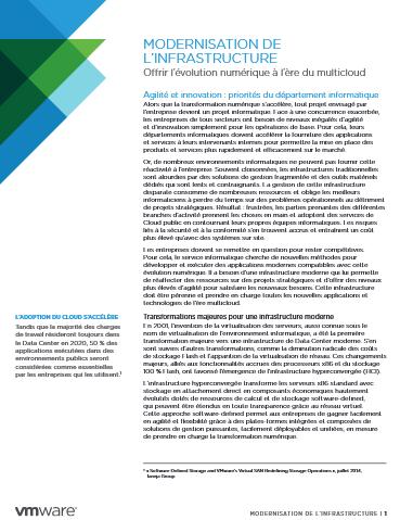 Modernisation de l'infrastructure : offrir l'évolution numérique à l'ère du multicloud
