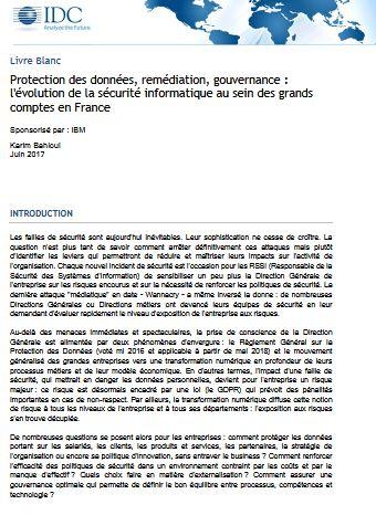 Protection des données, remédiation, gouvernance : l'évolution de la sécurité informatique au sein des grands comptes en France