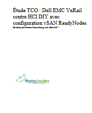 Étude TCO : Dell EMC VxRail contre HCI DIY avec configuration vSAN ReadyNodes