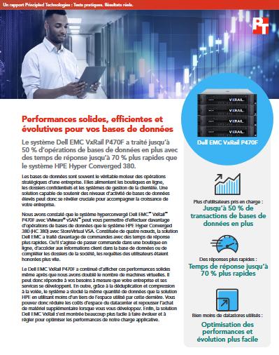 Performances solides, efficientes et évolutives pour vos bases de données