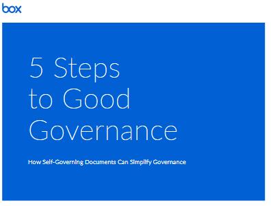 Cinq étapes pour une bonne gouvernance des informations