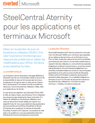 SteelCentral Aternity pour les applications et terminaux Microsoft
