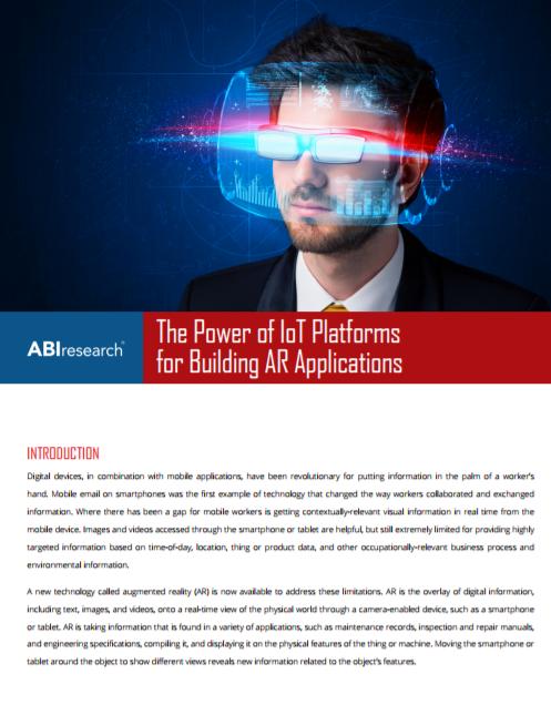 Comment tirer profit de la puissance des plateformes IoT pour construire des applications de réalité augmentée