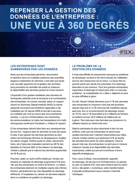 Repenser la gestion des données de l'entreprise : une vue à 360 degrés