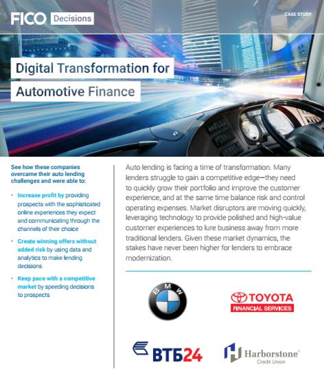 La transformation digitale dans le secteur de la finance automobile