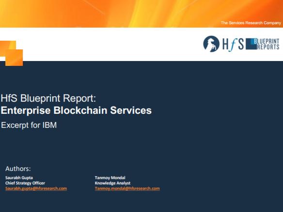 Rapport HfS Blueprint sur les services Blockchain de niveau entreprise