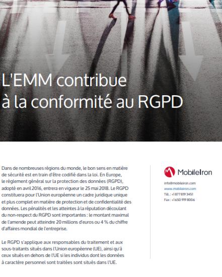 L'EMM contribue à la conformité au RGPD