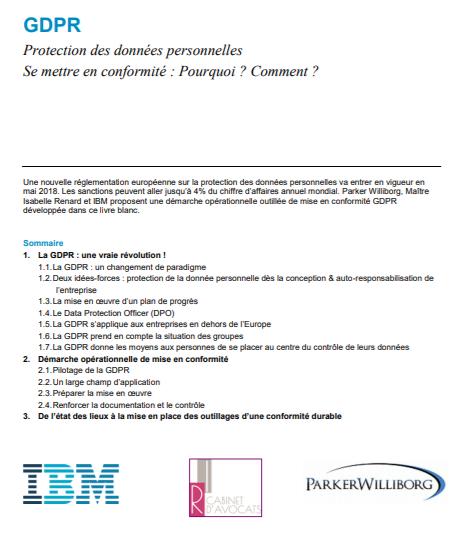 GDPR : Protection des données personnelles. Se mettre en conformité : Pourquoi ? Comment ?