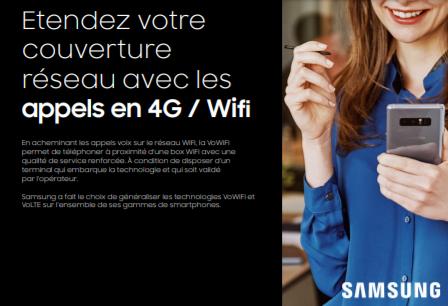 Etendez votre couverture réseau avec les appels en 4G / Wifi