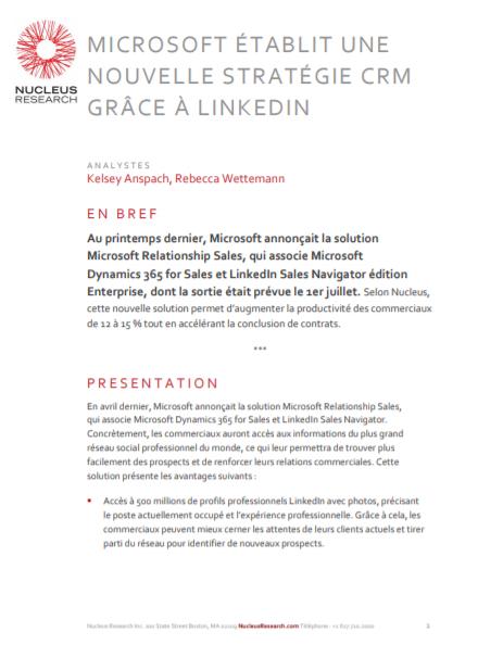 Microsoft établit une nouvelle stratégie CRM grâce à linkedin