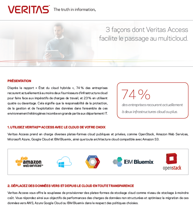 3 façons dont Veritas Access facilite le passage au multicloud