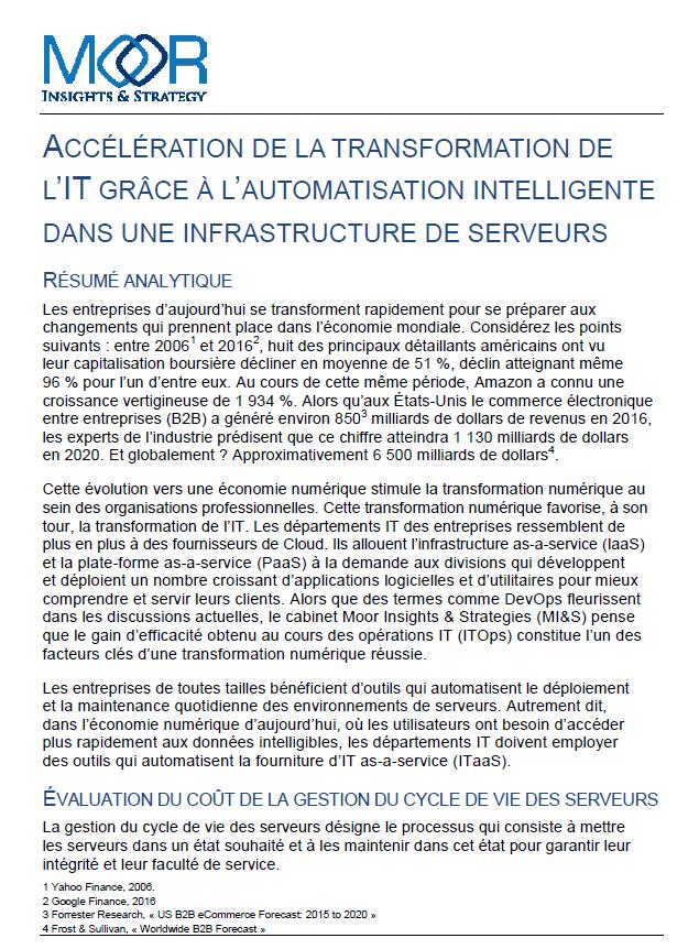 L'Accélération de la transformation de l'IT grâce à l'automatisation intelligente