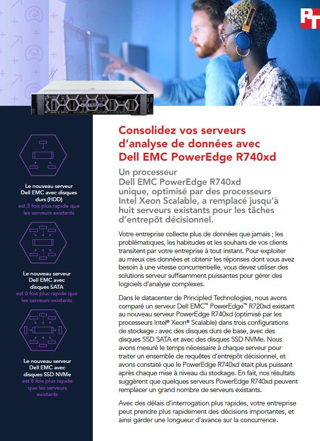 Consolidez vos serveurs d'analyse de données avec Dell EMC PowerEdge R740xd