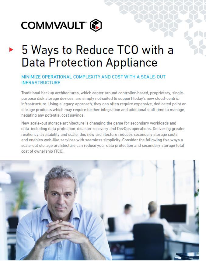 5 Façons de réduire le TCO avec la sauvegarde des données