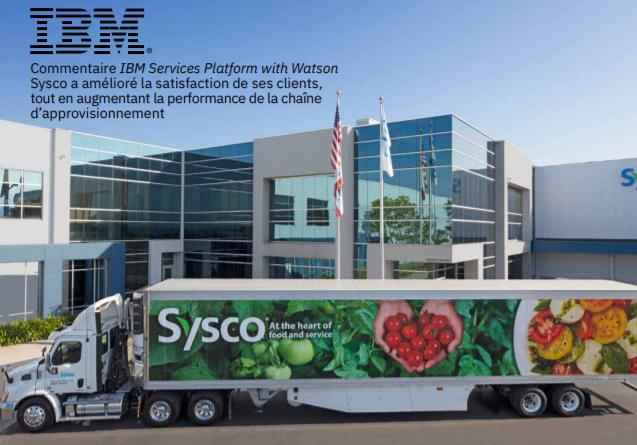 Comment la plateforme IBM Services avec Watson a-t-elle augmenté la satisfaction client de Sysco ?