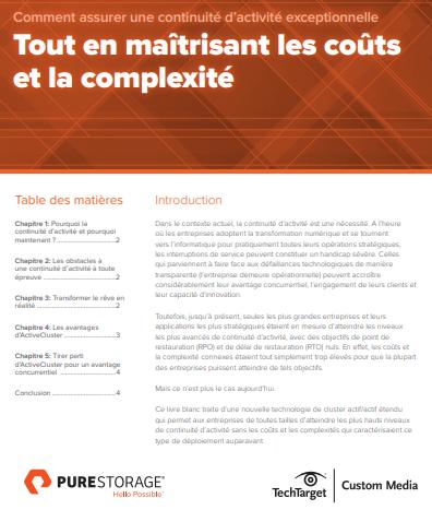 Comment assurer une continuité d'activité exceptionnelle tout en maîtrisant les coûts et la complexité