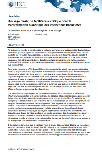 Stockage Flash: un facilitateur critique pour la transformation numérique des institutions financières