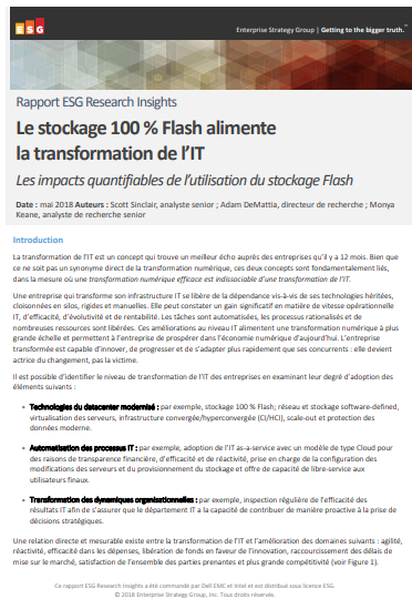 Le stockage 100 % Flash alimente la transformation de l'IT