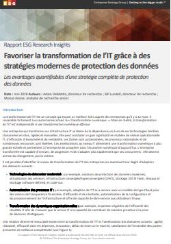 Favoriser la transformation de l'IT grâce à des stratégies modernes de protection des données