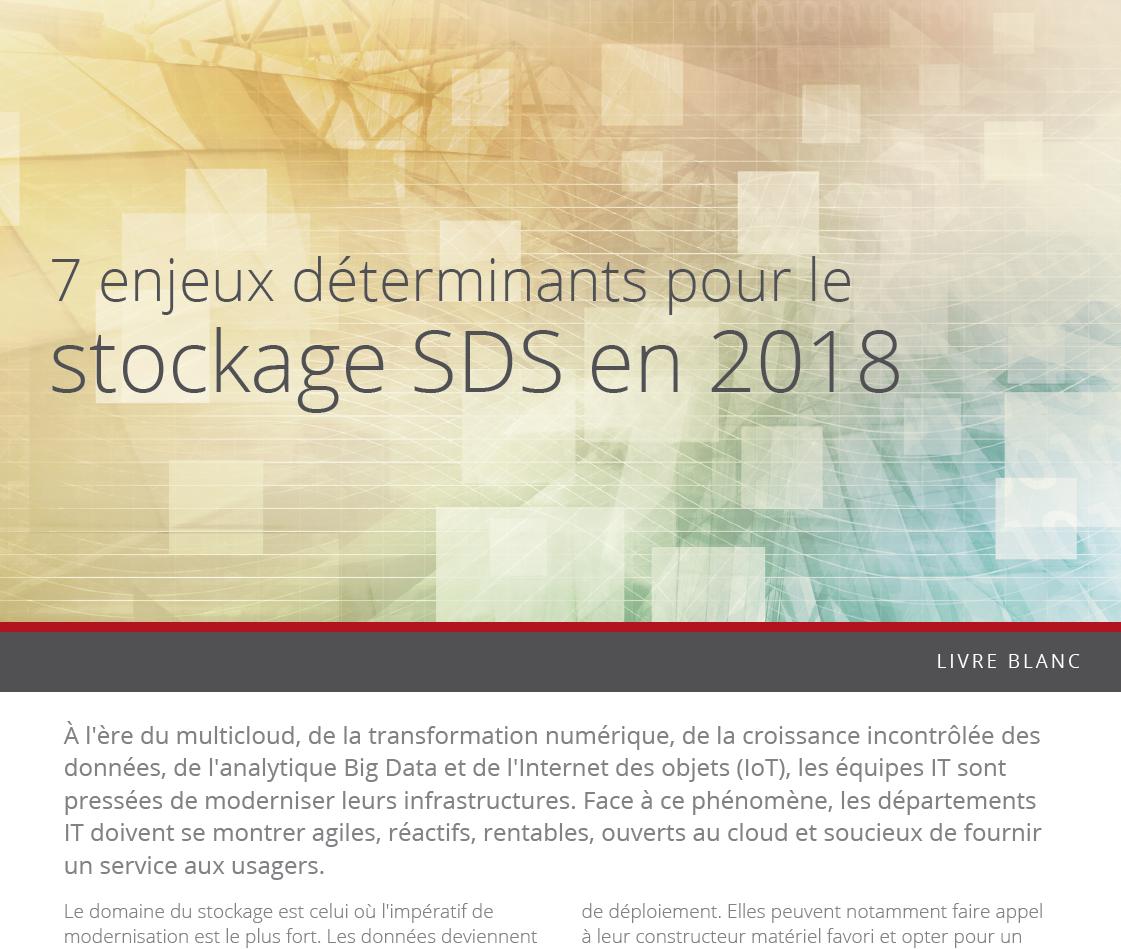 Sept enjeux déterminants pour le stockage SDS en 2018