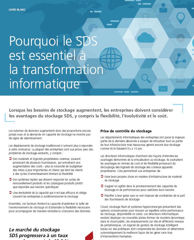Pourquoi le SDS est essentiel à la transformation de l'IT