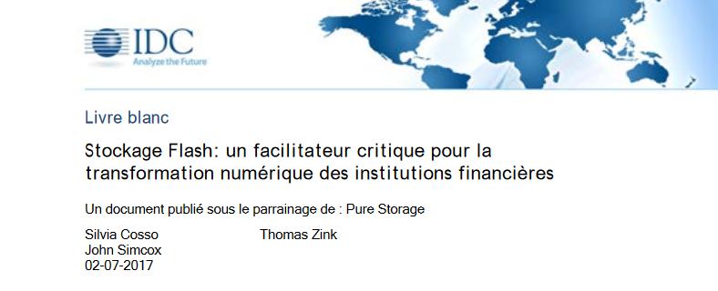 Stockage Flash: un facilitateur critique pour la transformation numérique des institutions financières.