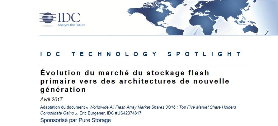 Évolution du marché du stockage flash primaire vers des architectures de nouvelle génération.