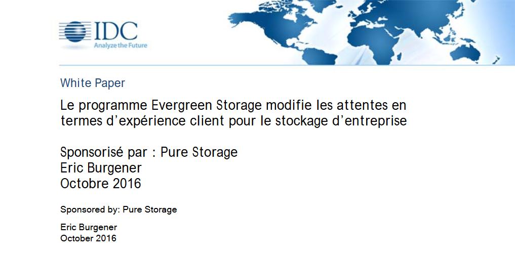 Le programme Evergreen Storage modifie les attentes en termes d'expérience client pour le stockage d'entreprise.