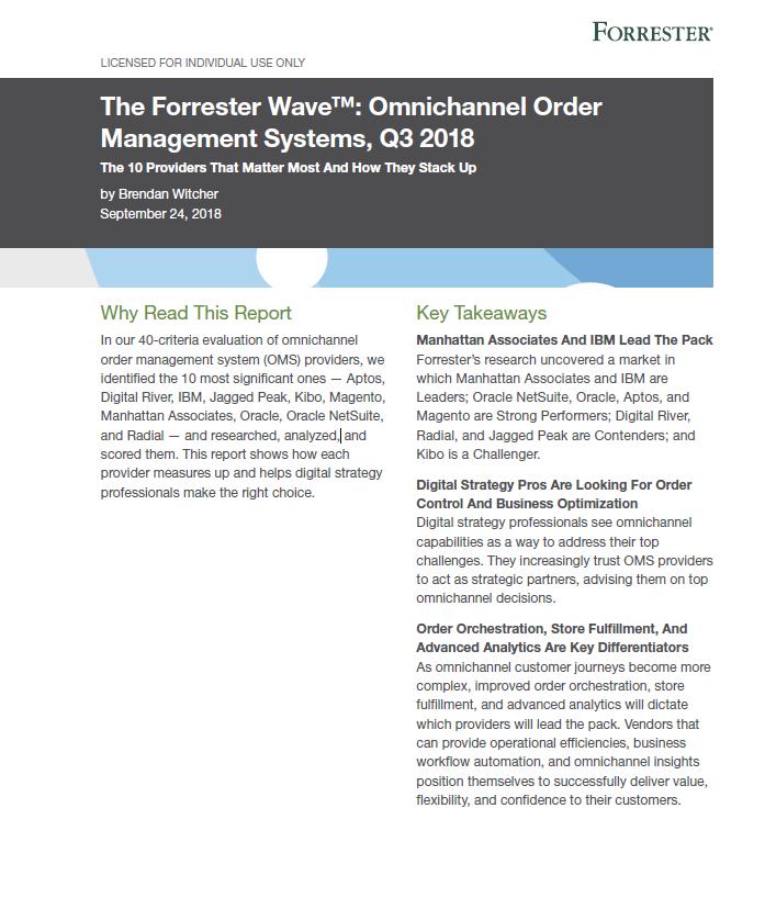 The Forrester Wave™: Omnichannel Order Management Systems