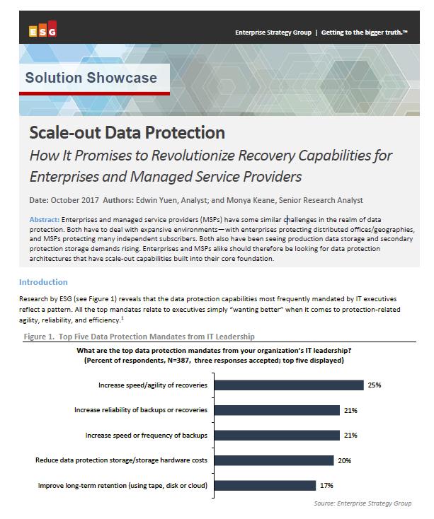Mise à l'échelle de la Protection des données: Comment cela va révolutionner les capacités de recouvrement pour les entreprises et les fournisseurs de service.